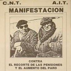 Carteles Políticos: CNT-AIT MANIFESTACION...CA. 1980. 35 X 50 CM. BARCELONA. Lote 33724066