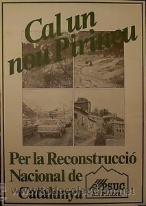 CARTEL CAL UN NOU PIRINEU.PSUC.1980.BARCELONA.70X100 (Coleccionismo - Carteles gran Formato - Carteles Políticos)