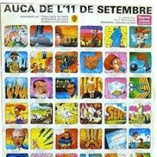 Carteles Políticos: CARTEL AUCA DE L'11 DE SETEMBRE. MANRESA. J. ALOY / M. ESPARBE. 1978. 59X89. Lote 34069358