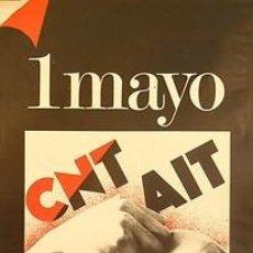 Carteles Políticos: CNT-AIT 1 MAYO.UNETE PARA RESISTIR. CA. 1982. 42 X 61 CM. ESPAÑA. Lote 34097705