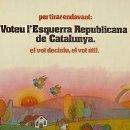 Carteles Políticos: CARTEL PER TIRAR ENDEVANT.ERC.1980.CATALUNYA.70X100. Lote 34098010