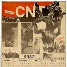 Carteles Políticos: CNT-AIT 1982. CALENDARI. 1982. 32 X 45 CM. BARCELONA. Lote 34110771