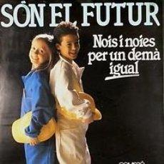 Carteles Políticos: CARTEL SOM EL FUTUR. MASSO. CATALUNYA. 1988. 34X50. Lote 35843617