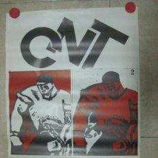 Carteles Políticos: CARTEL CNT - LIBERTAD - AÑO 1977. Lote 234539845