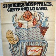 Carteles Políticos: CARTEL POLITICO, VOTA PCE , PARTIDO COMUNISTA ESPAÑA , SANIDAD , VALENCIA , ORIGINAL. Lote 37537709