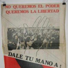 Carteles Políticos: FALANJE ESPAÑOLA DE LAS JONS ( AUTÉNTICA ). CARTEL. ELECCIONES 1977. 50 X 40 CMTRS. DETERIORADO.VER . Lote 37781058
