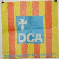 Carteles Políticos: DEMOCRACIA CRIASTIANA ARAGONESA. ELECCIONES 1977. CARTEL.45 X 49 CMTRS.DESGARRO DE 11 CMTRS.. Lote 37804467