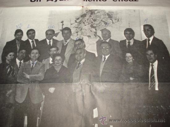 Carteles Políticos: Antiguo Cartel de Candidatos al Ayuntamiento de IBI por la UCD Unión de Centro Democratico de 1978 - Foto 3 - 38663863