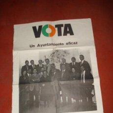 Carteles Políticos: ANTIGUO CARTEL DE CANDIDATOS AL AYUNTAMIENTO DE IBI POR LA UCD UNIÓN DE CENTRO DEMOCRATICO DE 1978. Lote 38663863