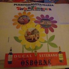 Carteles Políticos: GRAN CARTEL ORIGINAL PUERTO DE SANTA MARIA CADIZ FERIA DE LA PRIMAVERA 1969 . Lote 39960051