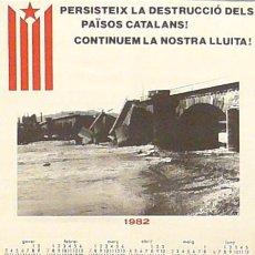 Carteles Políticos: CARTEL PERSISTEIX LA DESTRUCCIO DELS PAISOS CATALANS!. Lote 41580108