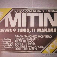 Carteles Políticos: CARTELES TRANSICIÓN: PARTIDO COMUNISTA ESPAÑOL ELECCIONES 1977. Lote 43614446