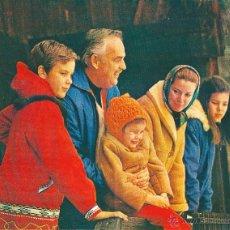 Carteles Políticos: MÓNACO: GRAN RECORTE DE LA FAMILIA EN LOS AÑOS 60: ALBERTO, RAINIERO, ESTEFANÍA, GRACIA Y CAROLINA. Lote 44824091