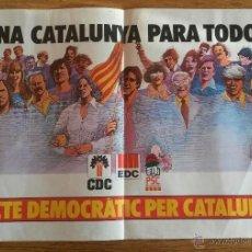 Carteles Políticos: PACTE DEMOCRÀTIC PER CATALUNYA, 1977. Lote 47397617