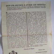 Carteles Políticos: BARCELONA 1814 * CARTEL 41 CM * PERSECUCIÓN DEL CONTRABANDO DE TABACO Y SAL EN CATALUNYA. Lote 47436852