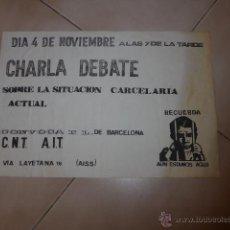 Plakate Politik - Antiguo cartel politico catalan de transicion, CNT anarquista, original - 48726690