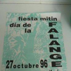 Affiches Politiques: CARTEL DE MITIN DE FALANGE 1996 MADRID. Lote 49445699