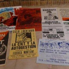 Carteles Políticos: LOTE 9 CARTEL POLITICO TRANSICION DE LA CNT ANARQUISTA, ORIGINALES.. Lote 49793031