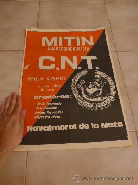 Carteles Políticos: Lote 9 cartel politico transicion de la CNT anarquista, originales. - Foto 2 - 49793031
