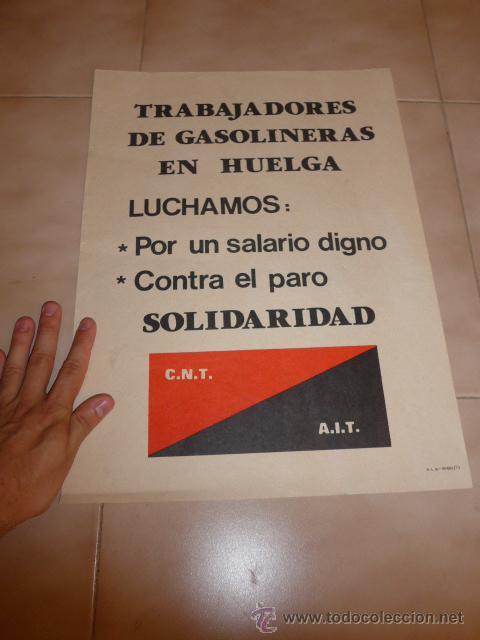 Carteles Políticos: Lote 9 cartel politico transicion de la CNT anarquista, originales. - Foto 3 - 49793031