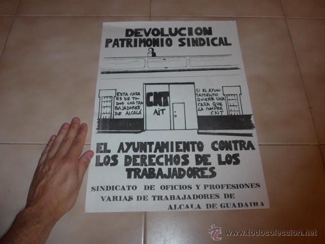 Carteles Políticos: Lote 9 cartel politico transicion de la CNT anarquista, originales. - Foto 15 - 49793031