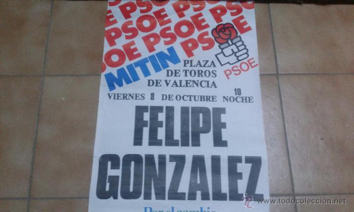 CARTEL HISTÓRICO PSOE 1982 (Coleccionismo - Carteles gran Formato - Carteles Políticos)
