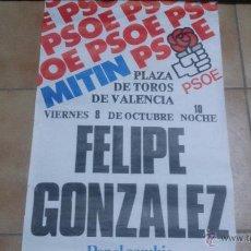 Carteles Políticos: CARTEL HISTÓRICO PSOE 1982. Lote 50943212