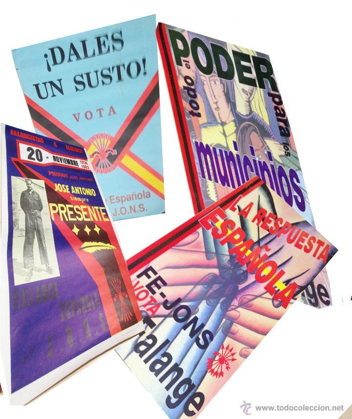 VARIOS CARTELES, FALANGISTAS A ALICANTE ·· FALANGE ESPAÑOLA ·· J.O.N.S ·· (Coleccionismo - Carteles gran Formato - Carteles Políticos)