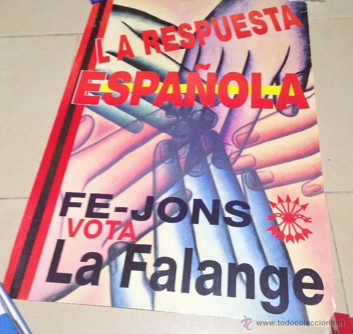 Carteles Políticos: VARIOS CARTELES, FALANGISTAS A ALICANTE ·· FALANGE ESPAÑOLA ·· J.O.N.S ·· - Foto 6 - 51074387