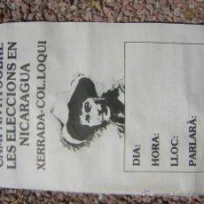 Affissi Politici: MITIN SANDINO EN BLANCO. Lote 51463712