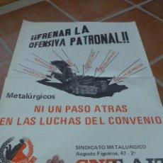 Carteles Políticos: ANTIGUO CARTEL ORGINAL DE CNT, TRANSICION, EXTREMA IZQUIERDA, CATALAN, AÑOS 70-80, ANARQUISTA. Lote 52570027