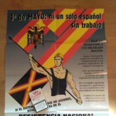 Carteles Políticos: CARTEL DE RNJ, JUVENTUDES DE ALIANZA POR LA UNIDAD NACIONAL. AUN. FALANGE.. Lote 52910512
