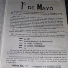 Carteles Políticos: CARTEL CNT 1 DE MAYO 1980. Lote 53871775