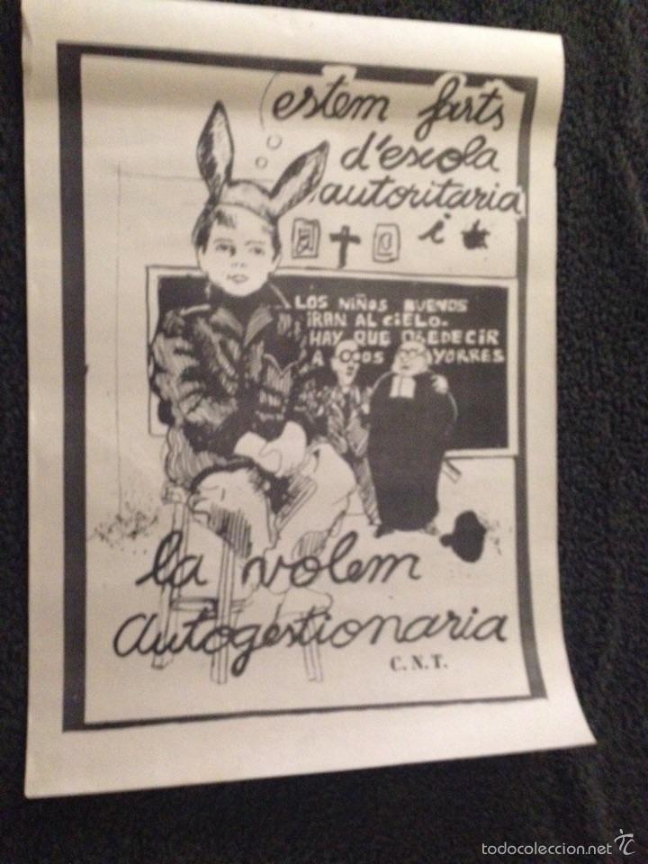 CARTEL POLITICO AÑOS 70/80 CNT (Coleccionismo - Carteles gran Formato - Carteles Políticos)