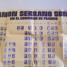 Carteles Políticos: CARTEL POSTER DE RAMON SERRANO SUÑER EN EL GOBIERNO DE FRANCO DE 1938 A 1070. Lote 58608942