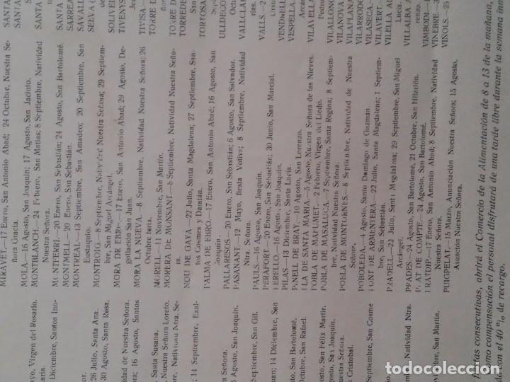 Carteles Políticos: PROVINCIA DE TARRAGONA - 1967 - SINDICATOS - FIESTAS LOCALES ACEPTADAS EN LAS LOCALIDADES - INTERESA - Foto 3 - 61915424