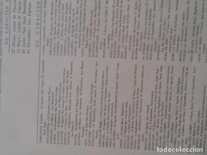 Carteles Políticos: PROVINCIA DE TARRAGONA - 1967 - SINDICATOS - FIESTAS LOCALES ACEPTADAS EN LAS LOCALIDADES - INTERESA - Foto 5 - 61915424