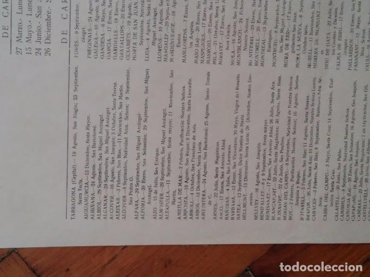 Carteles Políticos: PROVINCIA DE TARRAGONA - 1967 - SINDICATOS - FIESTAS LOCALES ACEPTADAS EN LAS LOCALIDADES - INTERESA - Foto 7 - 61915424