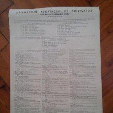 Carteles Políticos: PROVINCIA DE TARRAGONA - 1967 - SINDICATOS - FIESTAS LOCALES ACEPTADAS EN LAS LOCALIDADES - INTERESA. Lote 61915424