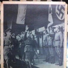 Carteles Políticos: AU 30 ANNIVERSAIRE DE LA DÉFAITE NAZI-FASCISTE. ESPAGNE 1975 TOUJOURS LE FASCISME. 1975. Lote 63268392