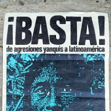 Carteles Políticos: CARTEL BASTA DE AGRESIONES YANQUIS A LATINOAMICA. JUVENTUDES SOCIALISTAS. MIGUEL VALLS. Lote 63769431