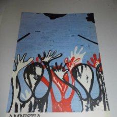 Carteles Políticos: (M) CARTEL POLITICO - AMNISTIA DRETS HUMANS I ART, FUNDACIO JOAN MIRO, 1976. Lote 68160397
