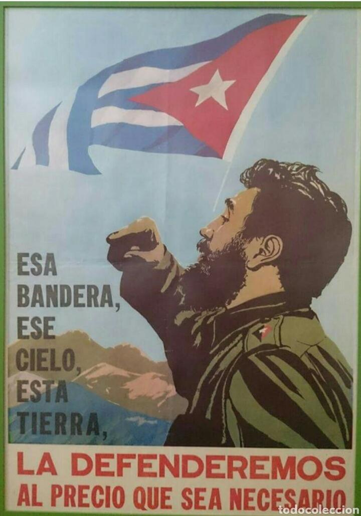 CARTEL REVOLUCIÓN CUBANA,FIDEL,CUBA,CHE GUEVARA,FIDEL CASTRO,BONITO (Coleccionismo - Carteles gran Formato - Carteles Políticos)