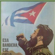 Carteles Políticos: CARTEL REVOLUCIÓN CUBANA,FIDEL,CUBA,CHE GUEVARA,FIDEL CASTRO,BONITO. Lote 202854583