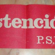 Carteles Políticos: (TC-12) CARTEL POLITICO PSUC AÑO 1977. Lote 68312897