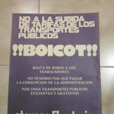 Carteles Políticos: ANTIGUO CARTEL CATALAN DE TRANSICION DE EXTREMA IZQUIERDA. BOICOT, CNT. Lote 69891329
