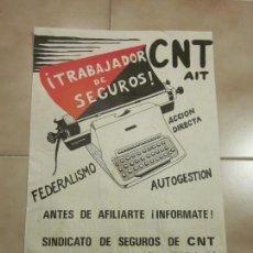 Carteles Políticos: ANTIGUO CARTEL CATALAN DE TRANSICION DE EXTREMA IZQUIERDA, CNT. Lote 69891365
