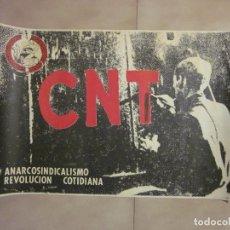 Carteles Políticos: ANTIGUO CARTEL CATALAN DE TRANSICION DE EXTREMA IZQUIERDA, CNT. Lote 69891913