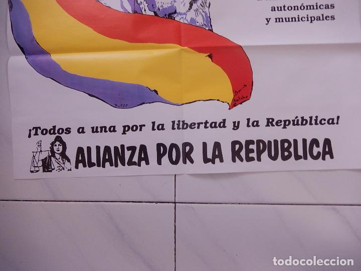 Carteles Políticos: Póster / cartel del mitin de Alianza por la Republica en el 60 aniversario de la II República - Foto 4 - 70199041