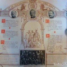 Carteles Políticos: CARTEL ORIGINAL DEL DIRECTORIO MILITAR DEL 13-9-1923. PRIMO DE RIVERA. IMP-LIT. ORTEGA. 50 X 41 CM. Lote 70298337